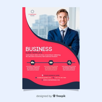 Flyer pour le modèle d'entreprise homme d'affaires