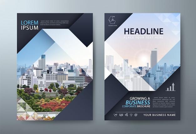 Flyer, présentation du dépliant, modèles de couverture de livre, mise en page au format a4.