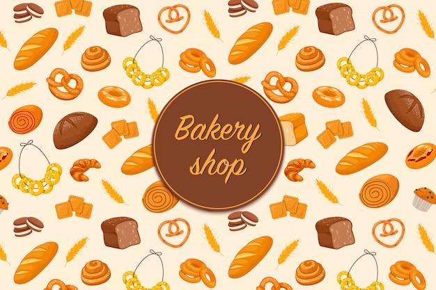 Flyer avec des produits de boulangerie