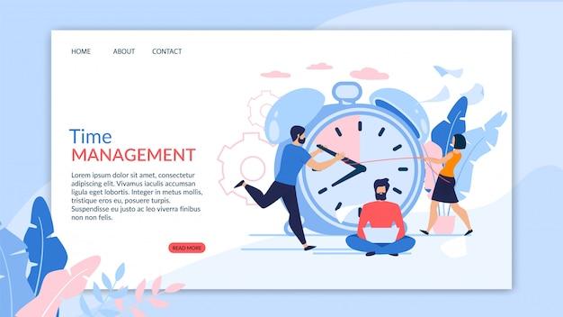 Flyer publicitaire est la gestion du temps écrit.