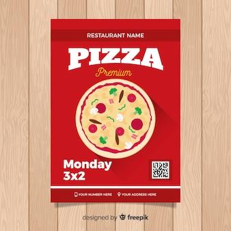 Flyer simple restaurant de pizza