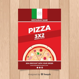 Flyer simple restaurant de pizza