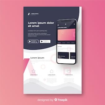 Flyer de téléphone portable simple