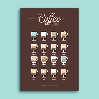 Flyer template café guide