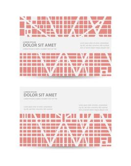 Flyer town pour cartes de visite professionnelles et corporatives et invitations au style urbain