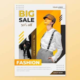 Flyer de vente a5 avec modèle photo