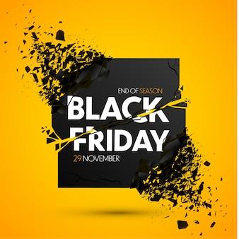 Flyer de vente du vendredi noir avec effet explosif