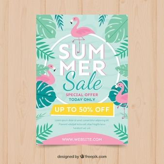 Flyer de vente d'été