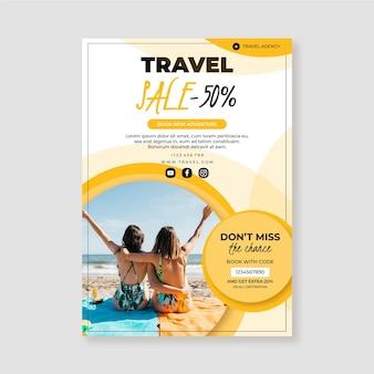 Flyer de vente de voyage avec photo)
