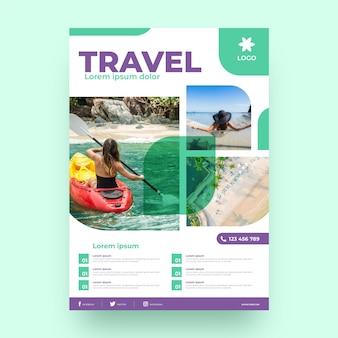 Flyer de vente de voyage avec photo