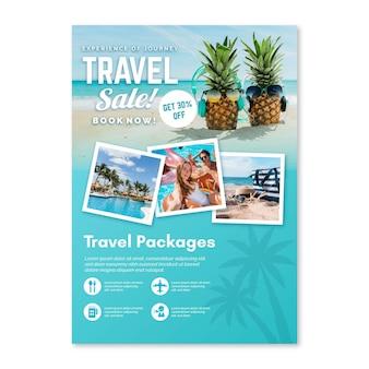 Flyer de vente de voyage avec photos