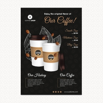 Flyer vertical de café