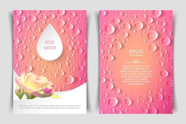 Flyer vertical recto-verso au format a4 avec roses et gouttes