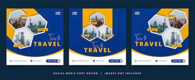 Flyer de voyage ou bannière de médias sociaux