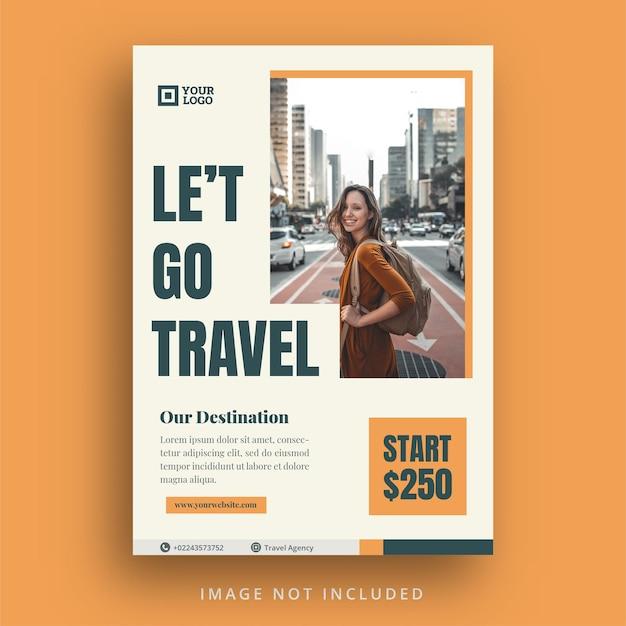 Flyer de voyage et modèle instagram