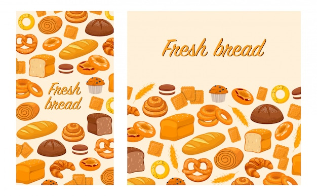 Flyers avec produits de boulangerie