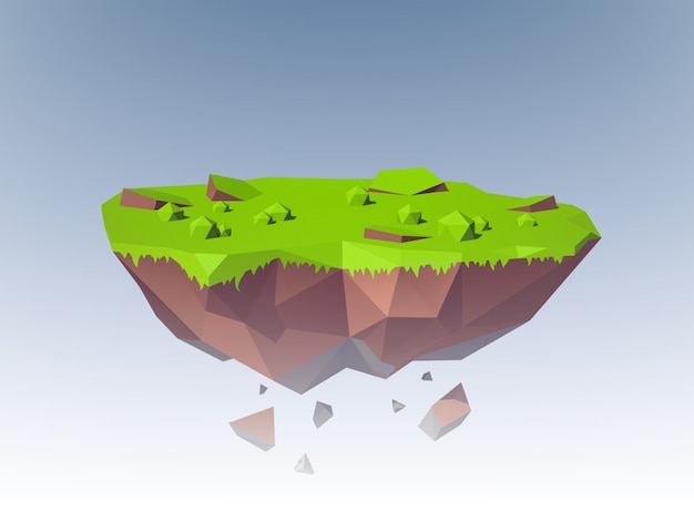 Flying island polygonal