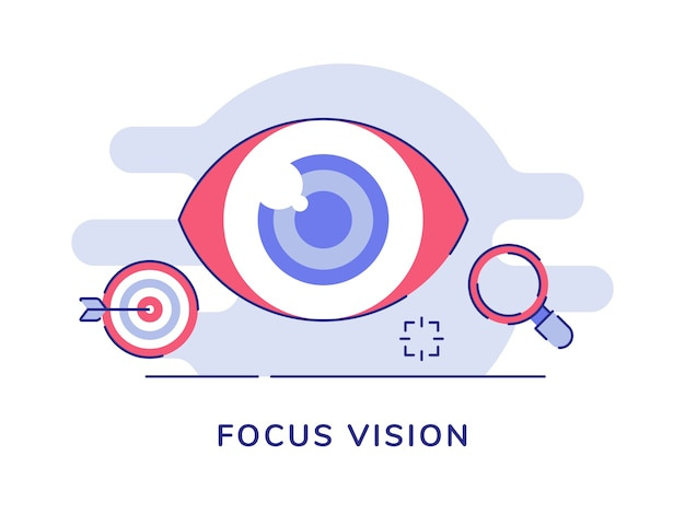 Focus vision oeil boule de flèche cible loupe