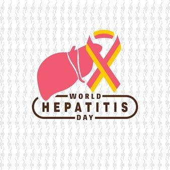 Foie pour la journée mondiale de l'hépatite