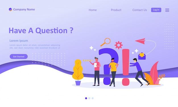 Foire aux questions landing page