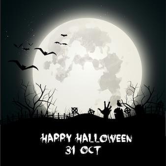 Foncé fond halloween avec cimetière