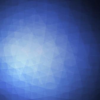 Foncé fond polygonale bleu
