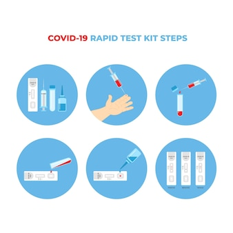 Fonctionnement Du Test Covid-19 Vecteur gratuit