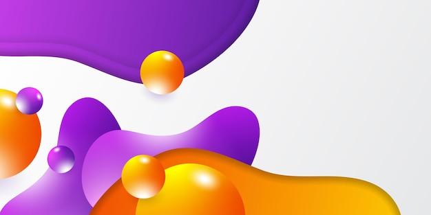 Fond 3d abstrait moderne avec concept d'entreprise et d'entreprise pour le modèle de conception de présentation. couleur de contraste vibrante dégradée