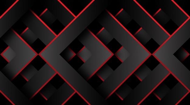 Fond 3d géométrique rouge et noir