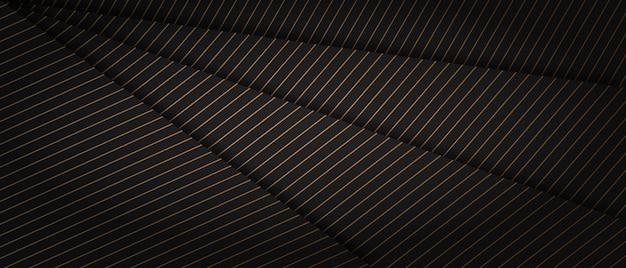 Fond 3d de luxe avec des lignes dorées