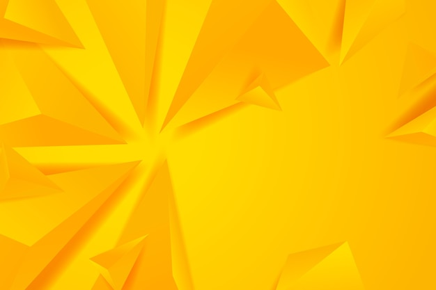 Fond 3d polygonal avec des tons monochromes jaunes
