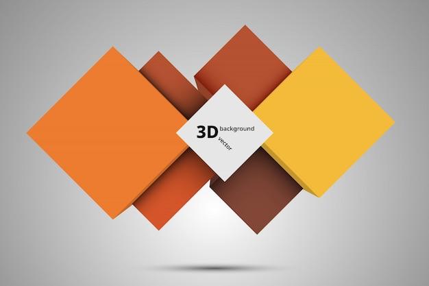 Fond 3d, vecteur de cadre abstrait.