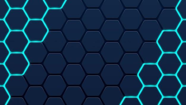Fond abstrait 3d hexagone