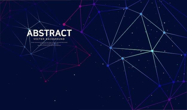 Fond abstrait d'activation de réseau
