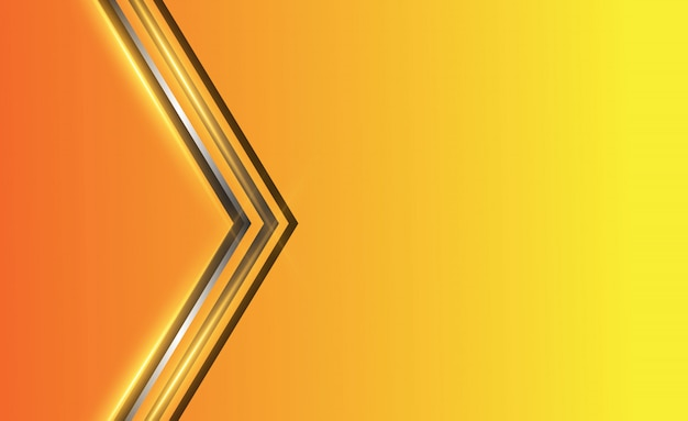 Fond abstrait affaires orange jaune et noir. conception de vecteur.