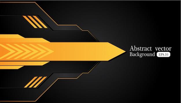 Fond abstrait affaires orange jaune et noir