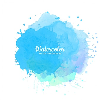 Fond abstrait aquarelle bleu splash