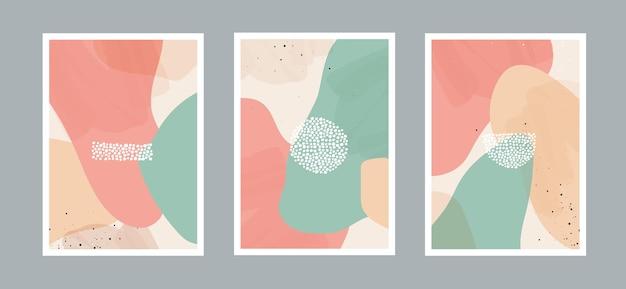 Fond abstrait d'arts de points avec différentes formes pour la couverture de carte postale ou de brochure de décoration murale