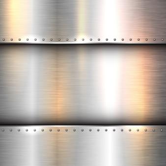 Fond abstrait avec une texture de métal brillant