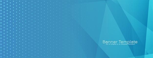 Fond abstrait bannière bleue géométrique