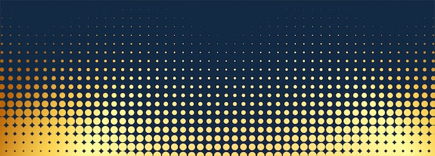Fond abstrait bannière en pointillé doré