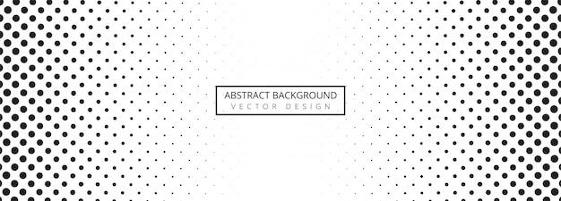 Fond abstrait bannière en pointillé noir et blanc