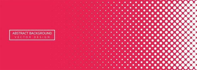 Fond abstrait bannière en pointillé rose et blanc