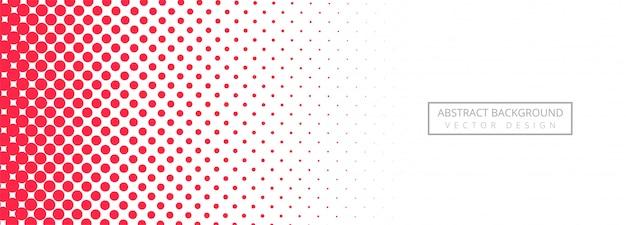 Fond abstrait bannière en pointillé rose