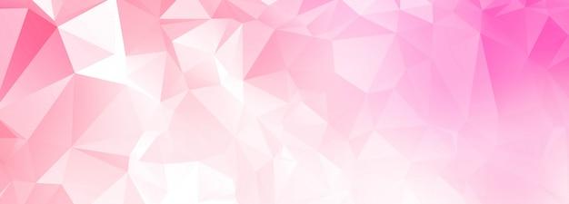 Fond abstrait bannière polygone rose