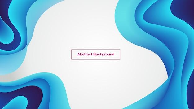 Fond abstrait bleu courbes fluides
