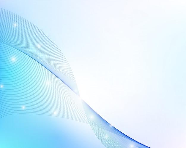 Fond abstrait bleu ondulé.