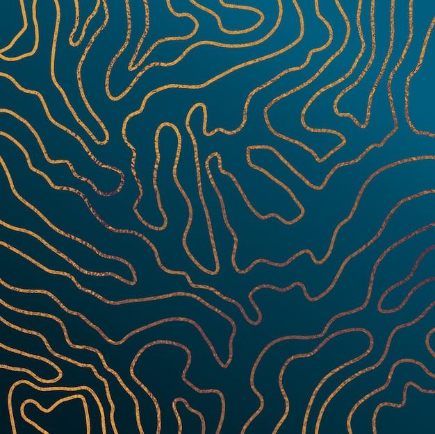 Fond abstrait bleu et or