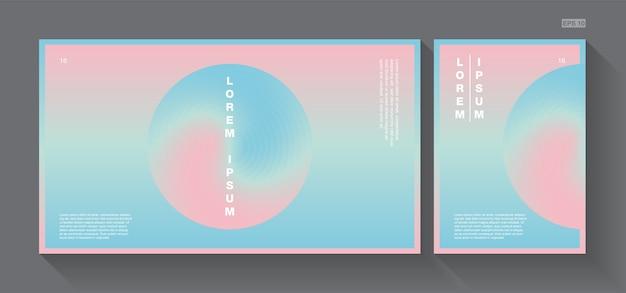 Fond abstrait bonbon rose et bleu
