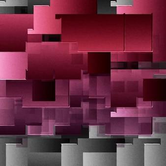 Fond abstrait avec des carrés rouges